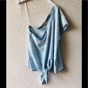 🌊 Cloth & stone jeans one shoulder top NWT S